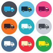 Delivery truck sign icons — Vector de stock