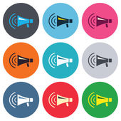 Megaphone sign icons — Stock Vector