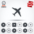 Airplane sign icons — Stock Vector #63897335