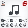 Music note sign icons — Stock Vector #63892541
