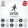 Caution wet floor icons — Stock Vector #63893559
