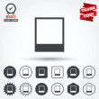 Photo frame template icons — Stock Vector #63894927