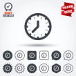 Clock time sign icons — Stock Vector #63895445