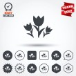 Flowers sign icons — Stock Vector #63896137