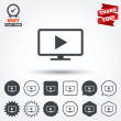Постер, плакат: Widescreen TV mode sign icons