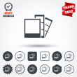Photo frame template icons — Stock Vector #63899643