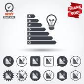 Energy efficiency icons — Stock Vector