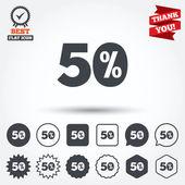 50 percent discount signs — Stock Vector