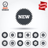 New sign icons — Stock Vector
