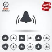 Alarm bell sign icons — Vecteur