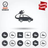 Electric car sign icons — Stock Vector