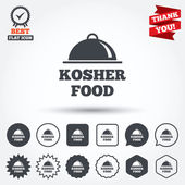 Kosher food product signs — Stock Vector