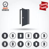 Tür-Zeichen-Symbole — Stockvektor