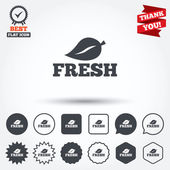 Fresh product sign icons — Stock Vector