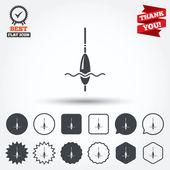 Rybářské znak ikony — Stock vektor
