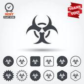 Biohazard sign icons — Stock Vector