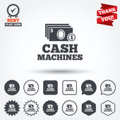 Cash and coin machines — Stock Vector