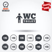 WC men toilet sign icons — Stock Vector