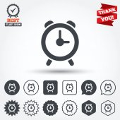Alarm clock sign icons — Stock Vector