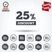 25 percent discount signs — Stock Vector