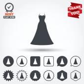 Wedding dress sign icons — Stock Vector