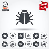 Bug sign icons — Stok Vektör