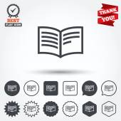 Book sign icons — Stock Vector