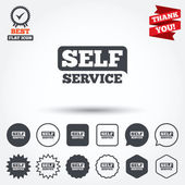 Self service sign icons — Stock Vector