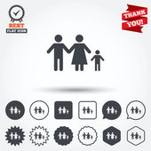 Complete family  sign icons — Stock Vector