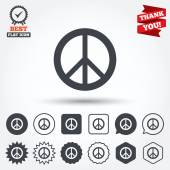 Peace sign icons — Stok Vektör