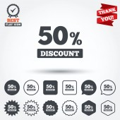 50 percent discount signs — Stockvektor