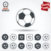 Football ball sign icons — Stock Vector