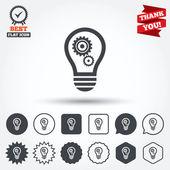 Lampe licht zeichen symbole — Stockvektor