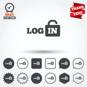 Login sign icons — Stock Vector