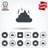 Feces sign icons — Stock Vector