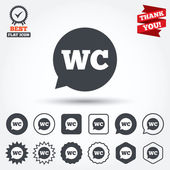 WC Toilet sign icons — Vector de stock