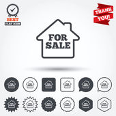 For sale sign icons — Vector de stock