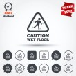 Caution wet floor icons — Stock Vector #63903659