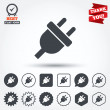 Electric plug sign icons — 图库矢量图片 #63904247