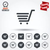 Shopping Cart sign icons — Stock Vector