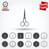 Scissors hairdresser closed icons — Stock Vector