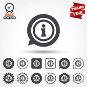 Iconos de la señal de información — Vector de stock