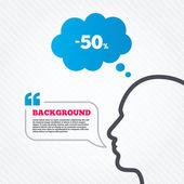 Icône de réduction de 50 . — Vecteur