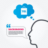 70 percent sale bag — Vecteur