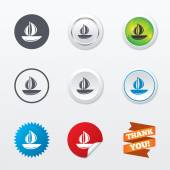 Sail boat icons — Stock Vector