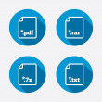 File extensions symbols. — Stock Vector #67323547