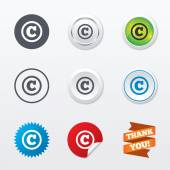 Copyright sign icons — Stock Vector