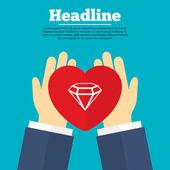 Diamond sign icon. — Stock Vector