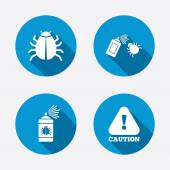 Bug disinfection signs. — Stock Vector