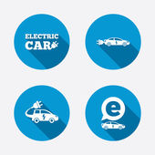Electric car signs — Stock Vector